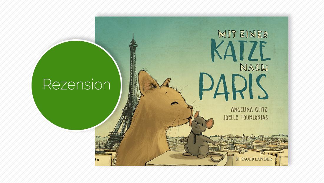 """Cover vom Bilderbuch """"Mit einer Katze nach Paris"""""""