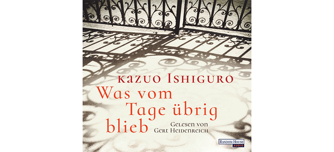 """Cover vom deutschen Hörbuch """"Was vom Tage übrig blieb"""" von Kazuo Ishiguro."""