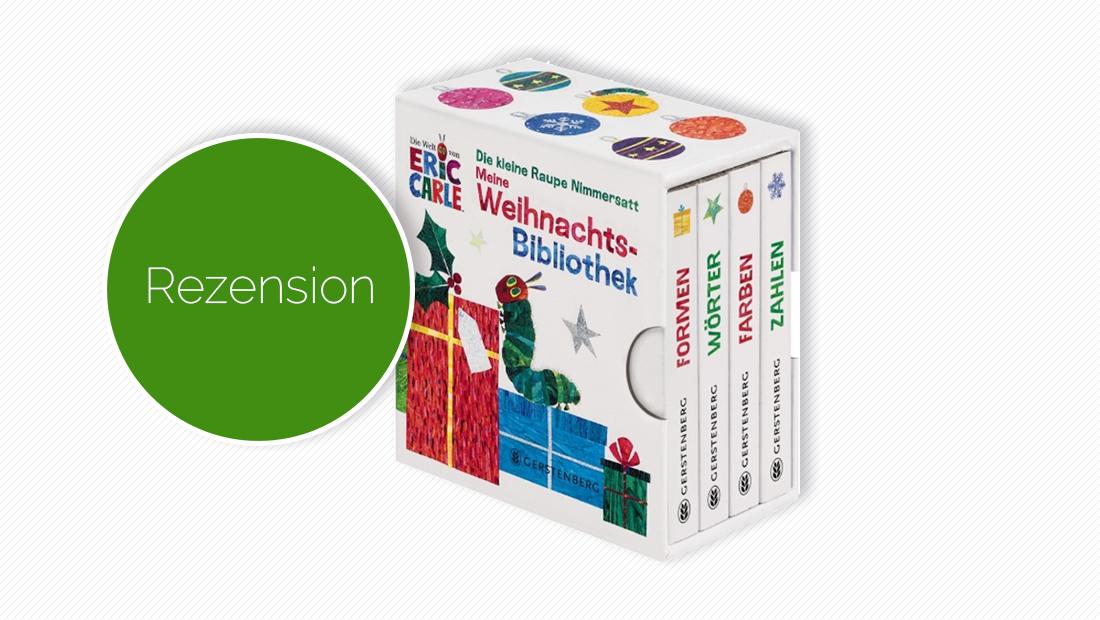 """Buchcover vom Bilderbuch """"Die kleine Raupe Nimmersatt - Meine Weihnachtsbibliothek"""""""