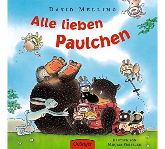 """Cover der Bilderbücher """"Alle lieben Paulchen"""" von Kinderbuchautor und -illustrator David Melling"""