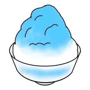 青く加工されたご飯の写真を見て食欲を抑える