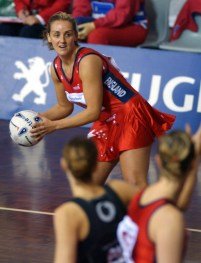 Competitive Netball is played on Sprung Timber Sports Floors