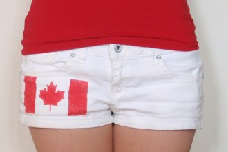 DIY Canada Day, Canada Day Tutorials, What to wear on Canada day, DIY Canada Day Shorts, DIY Blogger