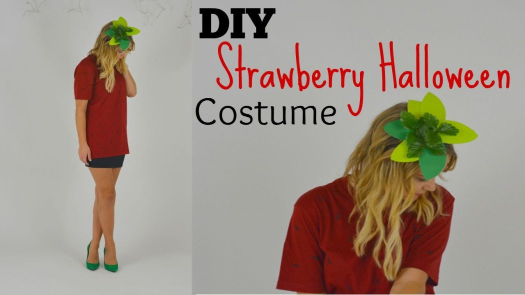YouTube :: Last Minute Strawberry Halloween Costume