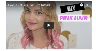 garnier hair color pink pop, garnier hair styler pink pop, garnier color styler review, garnier color pink pop, how to dye your hair pink, pink hair tutorial, pink and blonde hair, how to turn your hair pink, temporary pink hair, pink hair halloween, blonde and pink hair