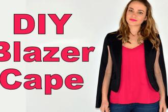 DIY Blazer Cape