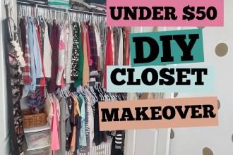 Cheap Closet Makeover Tutorial