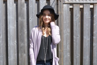 OOTD Purple Cardigan