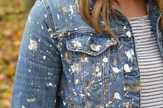 DIY White Gold Jean Jacket