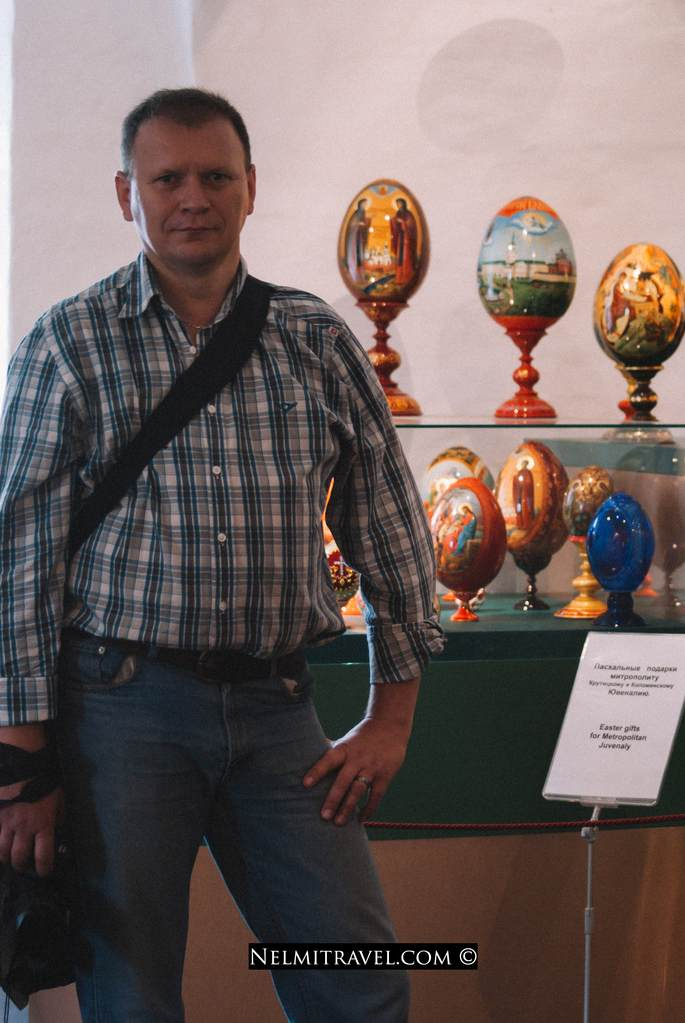 Faberge eggs at the Novodevichy Monastery in Moscow