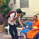 Monks in Thailand.Bhuddist Monks in Thailand,Buddhism,Buddhist Monks,Colour of Monk Robe