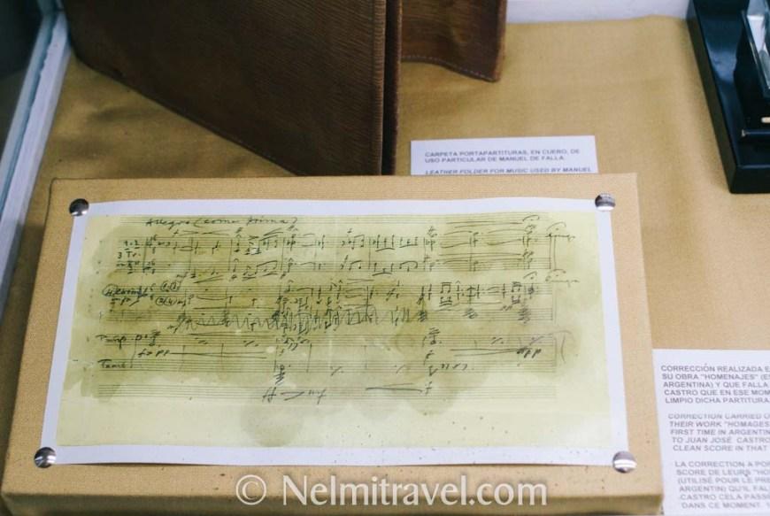 Music that Manuel de Falla was working on.