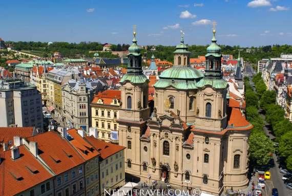 St Nicholas Church in Prague; Famous Baroque Churches; Prague sightseeing; Nelmitravel; Baroque Church Prague
