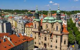 St Nicholas Church in Prague; Famous Baroque Churches; Prague sightseeing; Nelmitravel; Baroque Church Prague