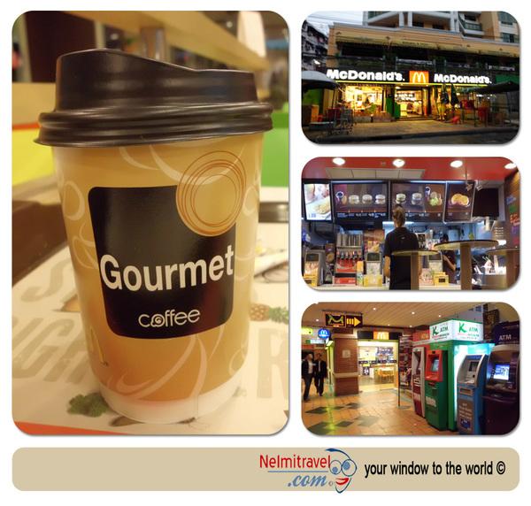 Coffee in Bangkok; Coffee Khaosan Road; McDonald`s in Khaosan Road