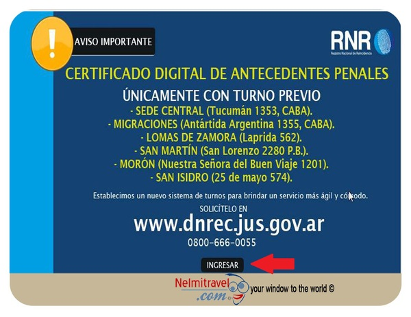 Criminal Record Check,Criminal History Check Argentina,Fingerprints Argentina,Reincidencia,tramite de antecedentes penales