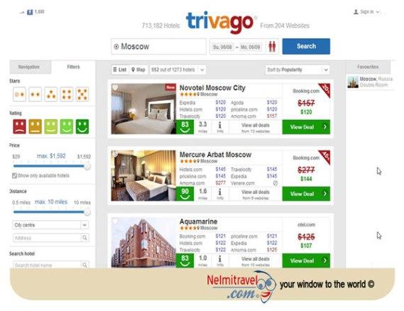 Trivago, Booking.com, Expedia.com, Booking sites, Hotel comparison site
