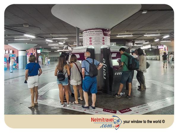 Renfre, Speed train Spain, Purchasing Renfre tickets, Atocha Station Madrid;