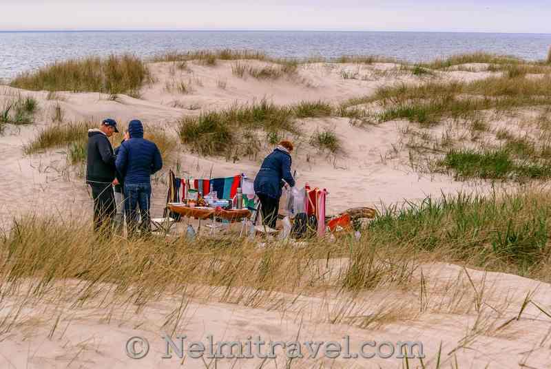 Yantarny Beach picnic.