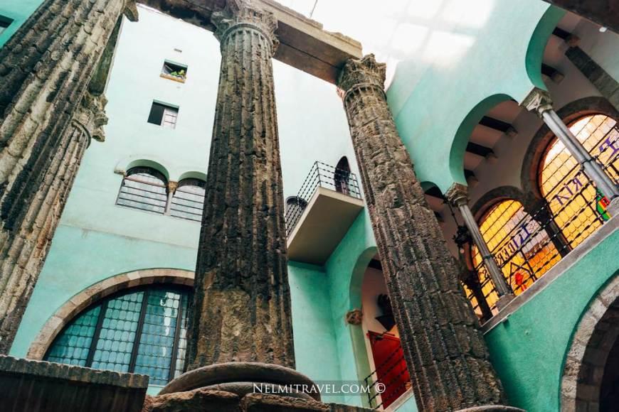 Templo de Augusto in Barcelona