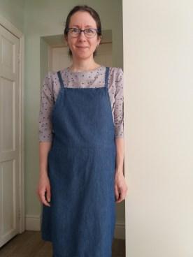 7/3 Star print shirt and dungaree dress
