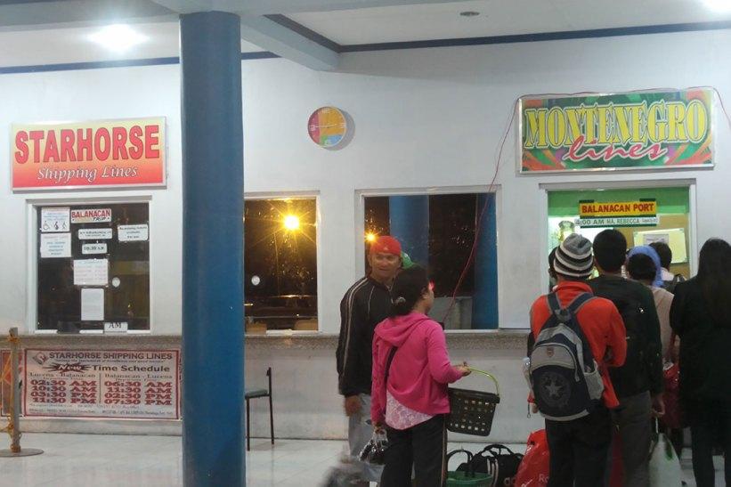 Buying tickets at Dalahican Port