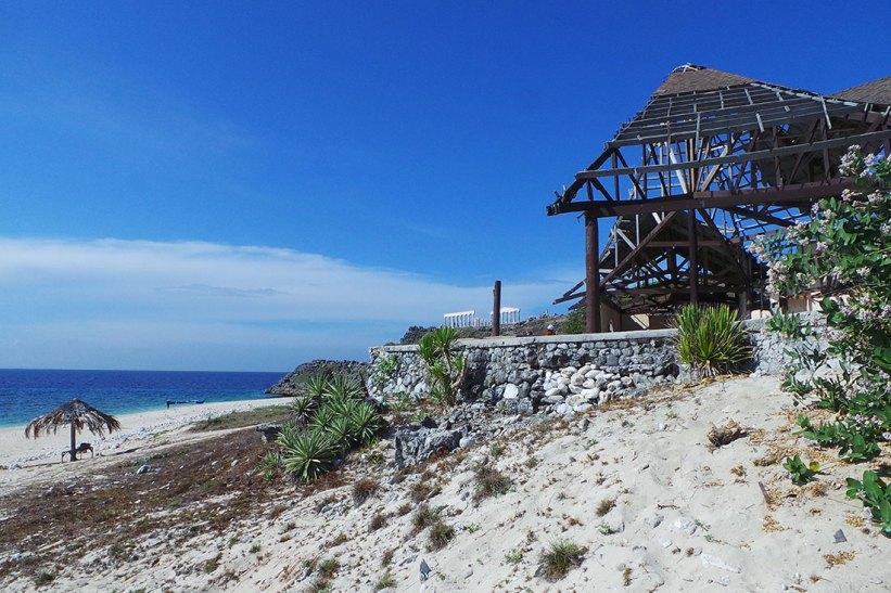 The island's main building