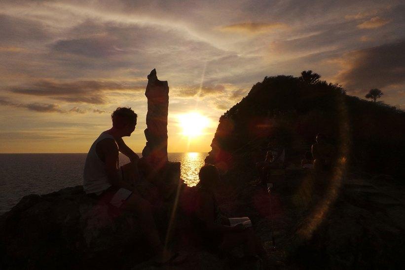 Sunset in Fortune Island