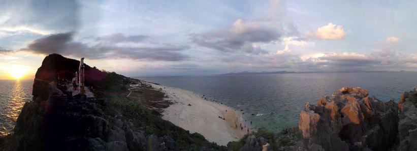Panoramic view of Fortune Island