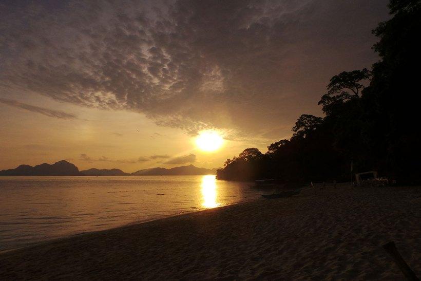 Sunset at Seven Commandos Beach
