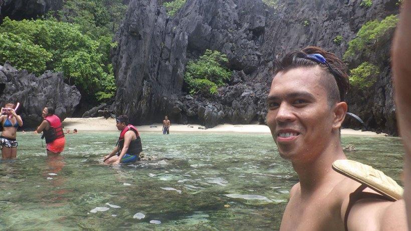 Selfie at Secret Beach