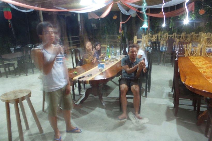Karaoke at Myrla's Garden and Cottages