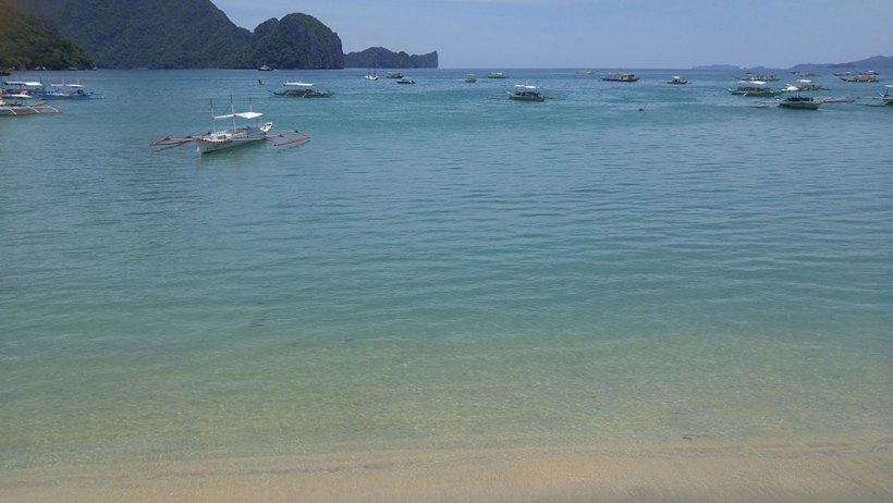 Ocean view from El Nido Sands Inn