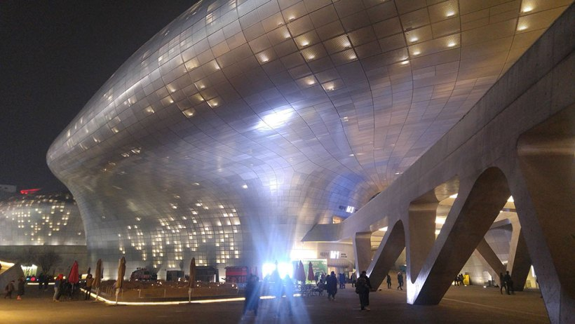 Dongdaemun Design Plaza at night