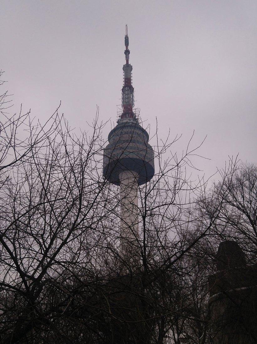 A shrouded N Seoul Tower
