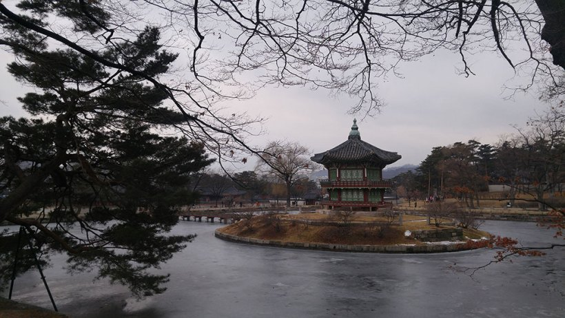 A pavilion in Gyeongbokgung Palace