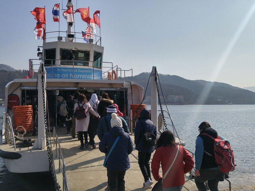 Ferry ride to Nami Island