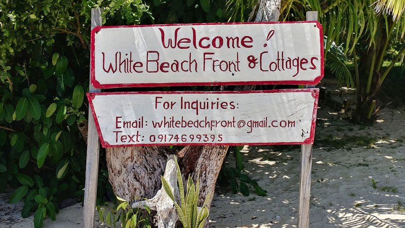 White Beach Front & Cottages in Hinugtan Beach