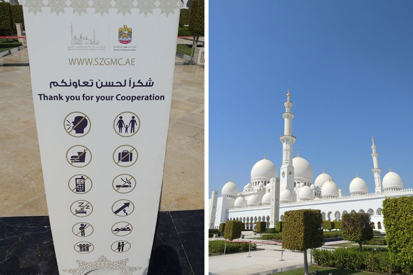 Rules inside Sheikh Zayed Grand Mosque