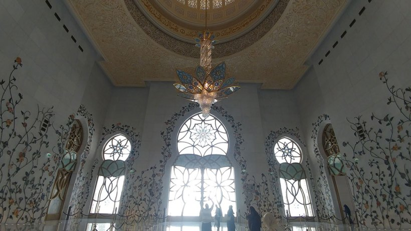 Outside the prayer hall