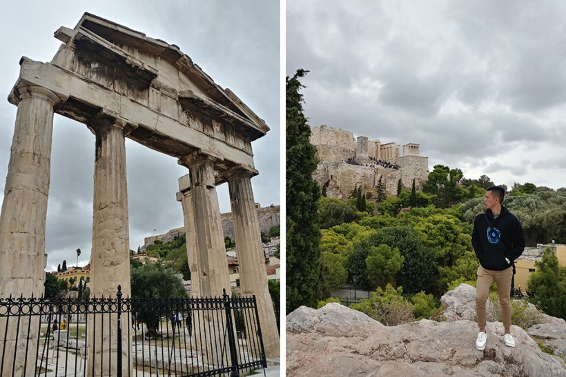 The Roman Agora & Areopagus in Athens, Greece