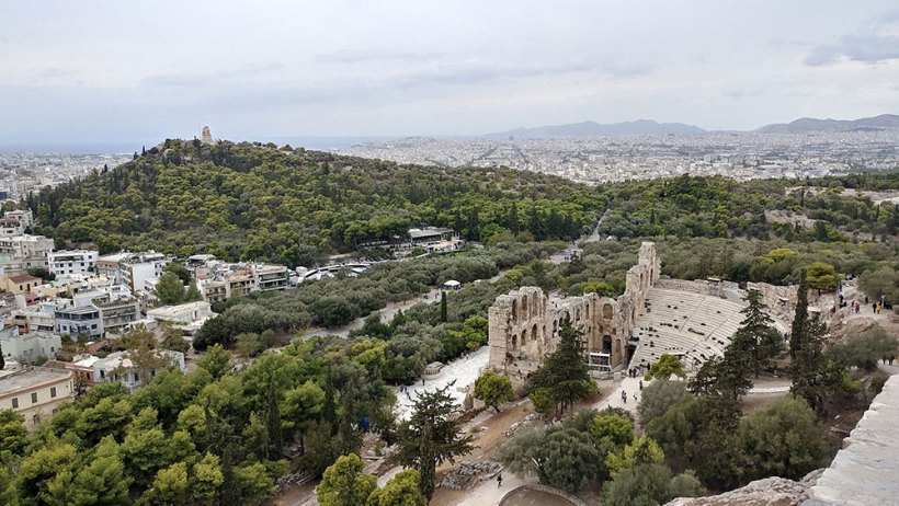 The Odeon of Herodes Atticus as seen from above