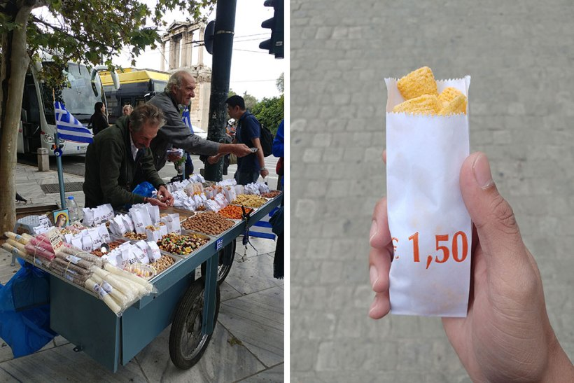 Street food in Athens, Greece