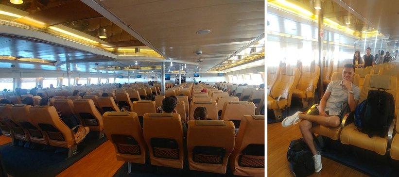 Seajets ferry ride to Paros, Greece
