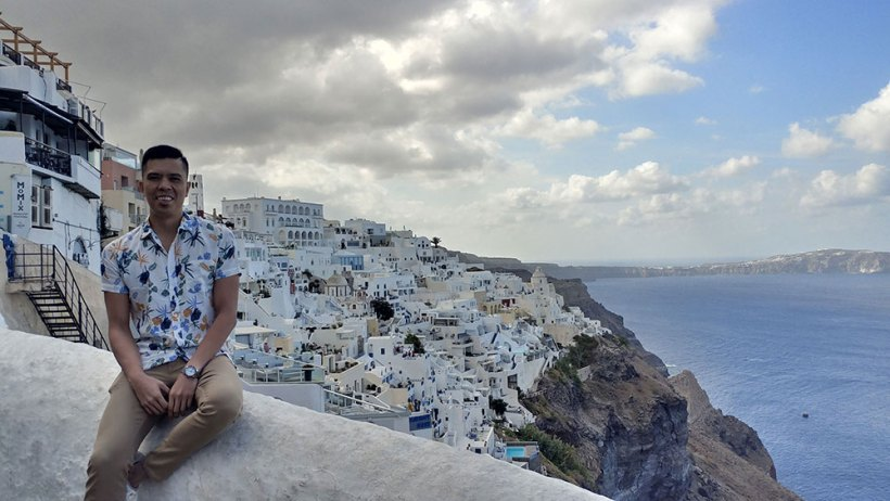 Beautiful Santorini background