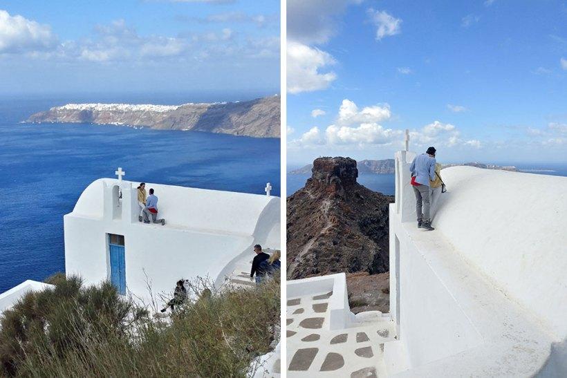 Marriage proposal in Santorini, Greece