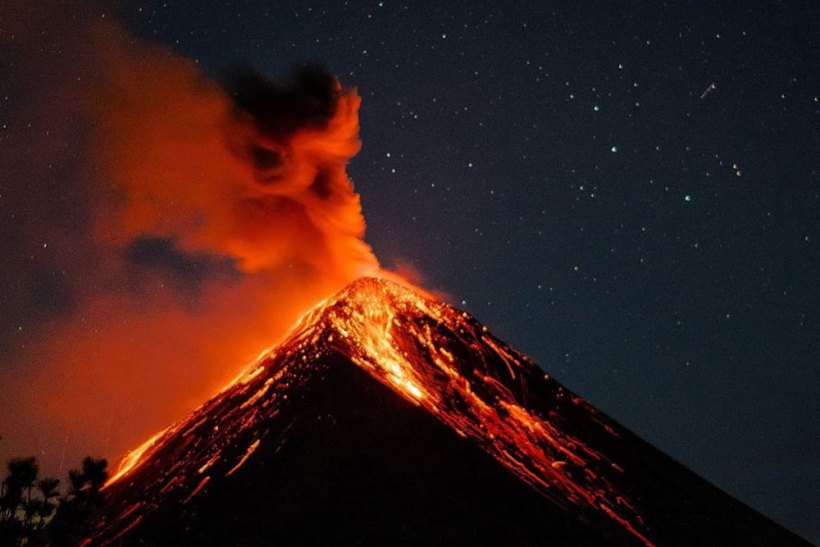 Volcan de Fuego as seen from Acatenango Volcano