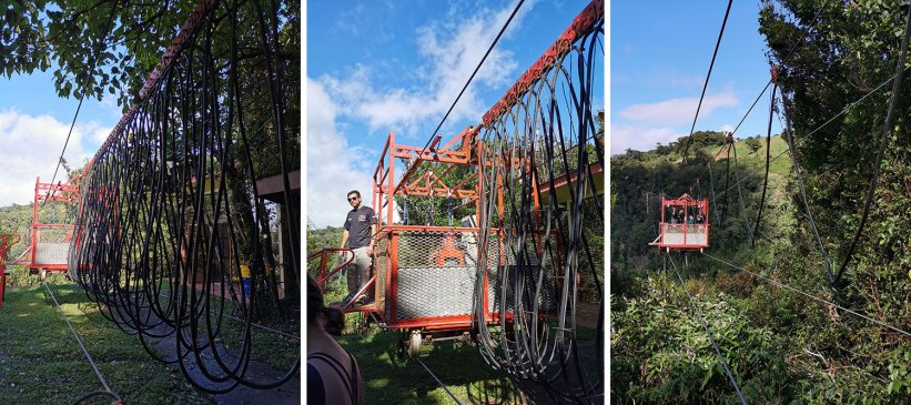Cable car system for the bungee jump