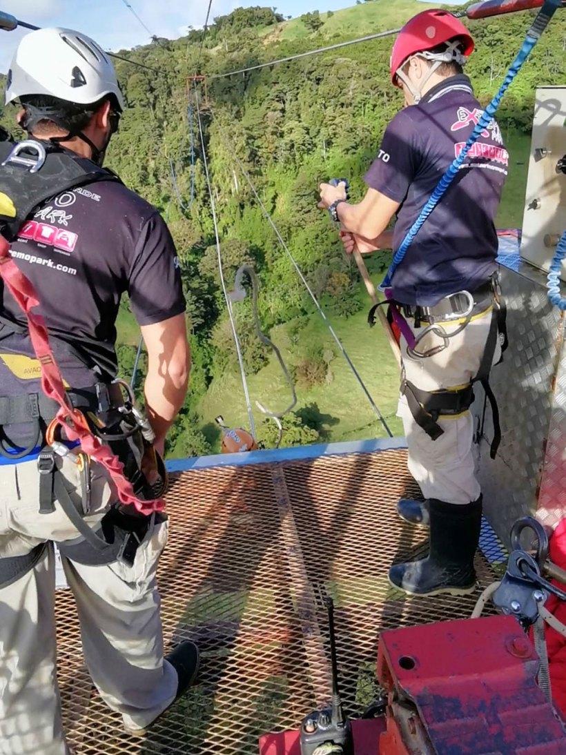 Extreme Tarzan swing in Costa Rica