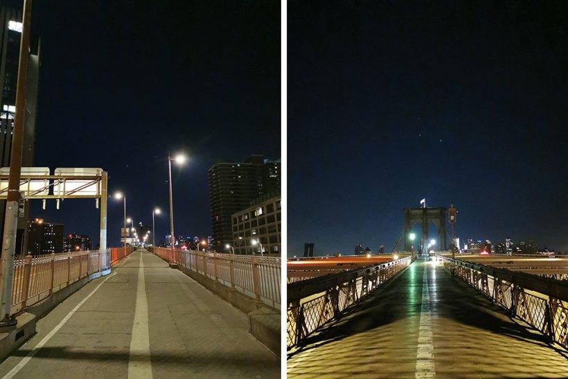 Walking to the Brooklyn Bridge